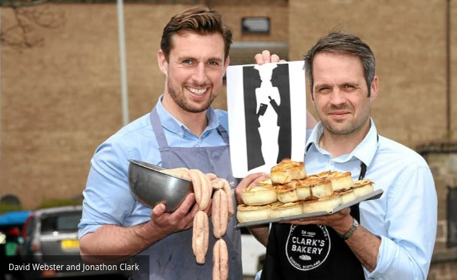 David Webster and Jonathon Clark - The Butcher The Baker (Photo courtesy of The Evening Telepgraph)